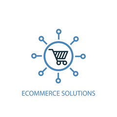 eCommerce solutions concept 2 colored icon. Simple blue element illustration