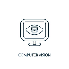 Computer Vision icon. Simple element illustration