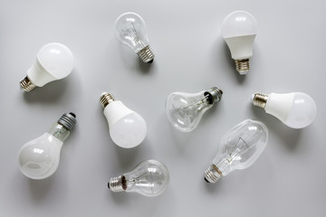 LED and incandescent lamps.