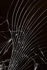 Broken cracked glass.