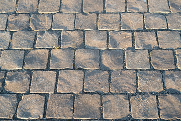 pavement with cobblestone