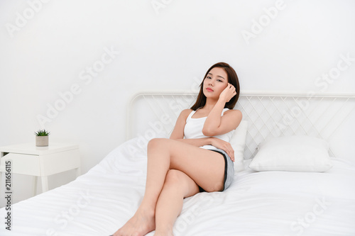 Incredible Lifestyle Concept Beautiful Asian Woman Is Relaxing In A Home Interior And Landscaping Ologienasavecom