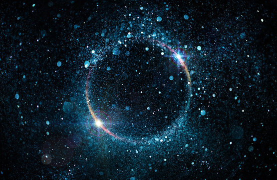 Glitter Particles In Circle - Abstract Black Hole