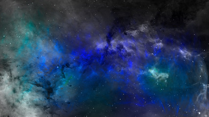 Abstract space scene of nebula in the space