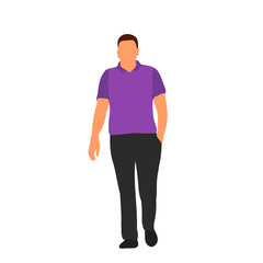 Wall Mural -  isolated, on white background, flat style man, without face