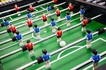 Table football, foosball.