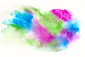 pink blue green watercolor background