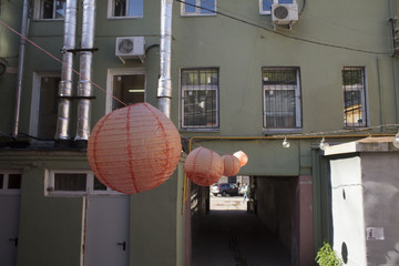 Chinese lanterns outdoors