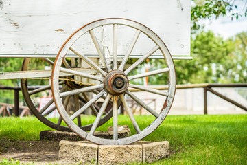 Chuck wagon wheel on Display