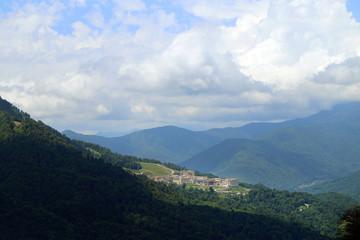 Photo of beautiful mountains