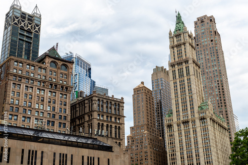New York City Usa Jun 20 2018 Skyscraper And Old Buildings In