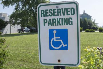 Reserved Parking Handicapped Sign