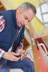 fixing the door knob