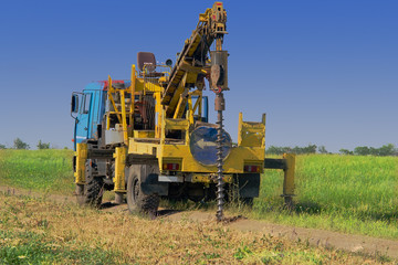 The drilling machine produces engineering and geological surveys for the design and construction of structures