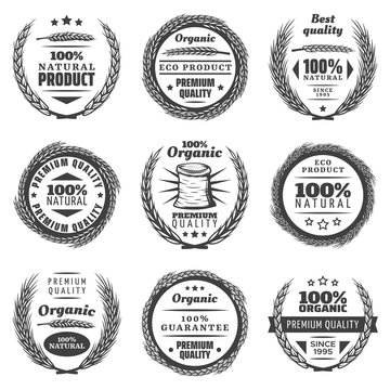 Vintage Premium Cereal Products Labels Set