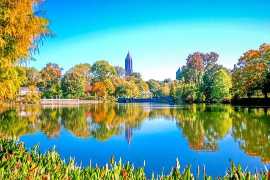 Blue City Lake in Park