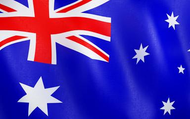 3D Flag of Australia.