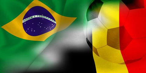 ブラジル ベルギー 国旗 サッカー