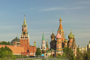 Moscow city skyline at Red Square, Moscow, Russia