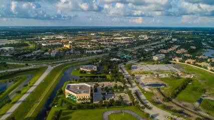 Aerial image Port St Lucie Florida USA