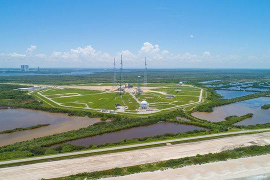 Aerial rocket launch faciity Florida