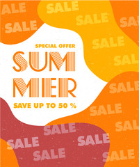 Summer sale banner vector illustration