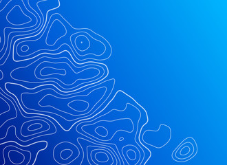blue background with topographic contour