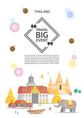 Thailand Landmark Illustration