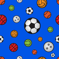 seamless pattern with sport ball
