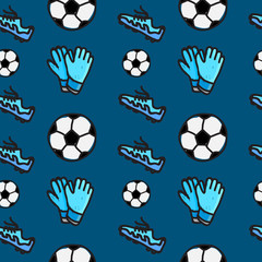 seamless pattern of soccer sport
