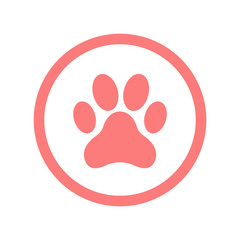 paw icon pink color