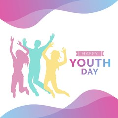 Youth day illustration