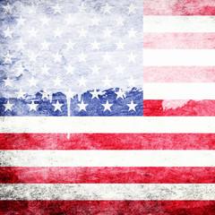 Grunge background USA Flag