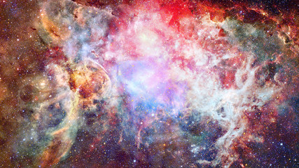Beautiful nebula and Galaxy. Elements of this Image Furnished by NASA