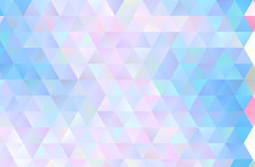 Colorful triangular background. Pattern with many triangles of different colors and shades. Vector illustration