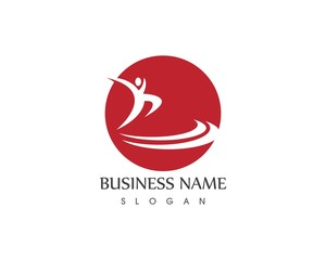 Human character logo vector template