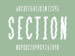 Section font. Vector alphabet