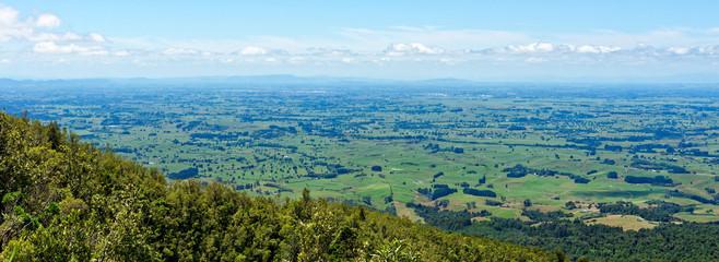 Vista of the Waikato region from Mt Pirongia