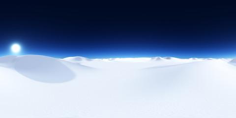 360 Grad Panorama mit einer Schneewüste