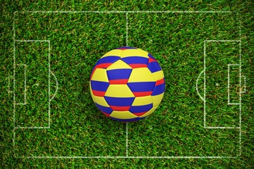 Composite image of football in colombia colours