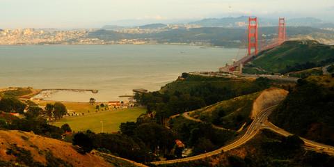 Roads near the Golden Gate Bridge