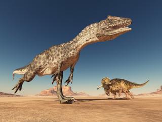 Allosaurus and Nasutoceratops