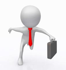 3D Figur als rennender Geschäftsmann