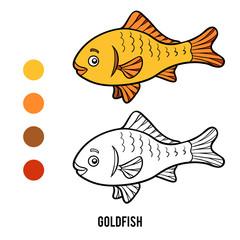 Coloring book, Goldfish