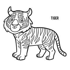 Coloring book, Tiger