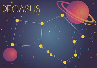 The constellation Pegasus