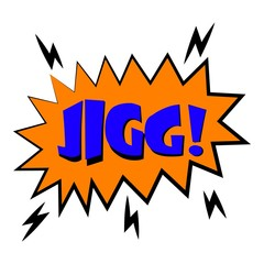 Jigg explosion sound effect icon. Cartoon illustration of jigg explosion sound effect vector icon for web design