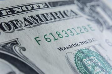 US Dollar bill, super macro, close up photo. Details of bills.