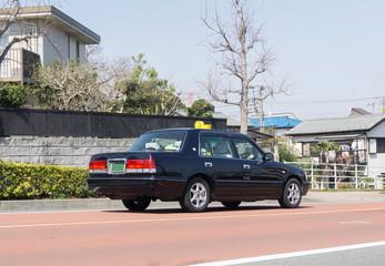 タクシー  住宅地