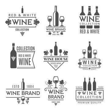 Various wine brands. Vector design template